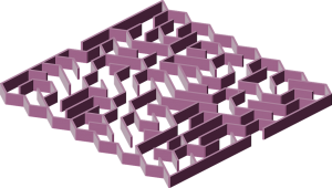 3D Maze Purple Printable Puzzle