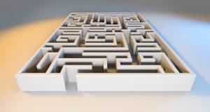 3D Maze Square Printable Puzzle