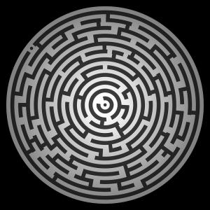 Circular Maze Hard Printable Puzzle