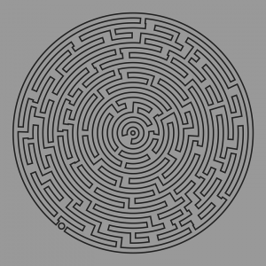 Very Hard Maze Printable Puzzle