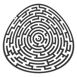 Hard Egg Shaped Maze Printable Puzzle