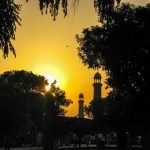 mosque sunset